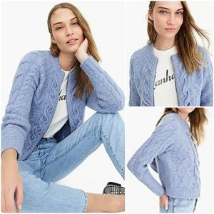 Point Sur J Crew chunky cable zip-up cardigan XL